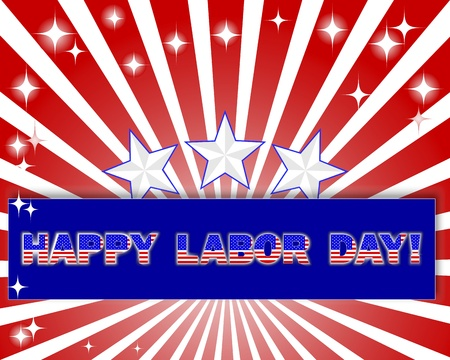 Labor Day. Celebratory background with a beautiful text on the banner Vector