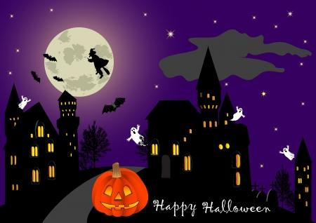 Illustration on a theme of halloween. vector. Vector