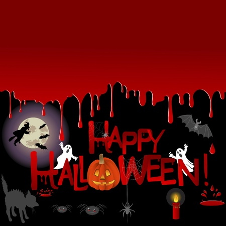 Halloween background with place for your text. Vector illustration. Vector