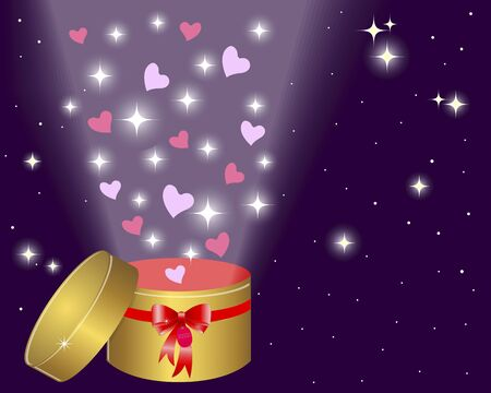 gold star mother's day: Holiday background with a gold gift box and red bow. EPS10. Vector illustration.