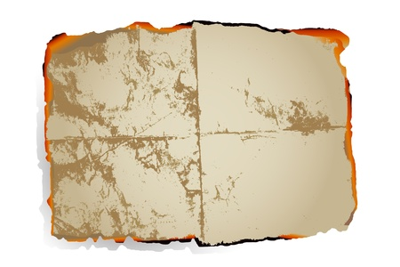 burnt edges: Old paper with burnt edges. vector.