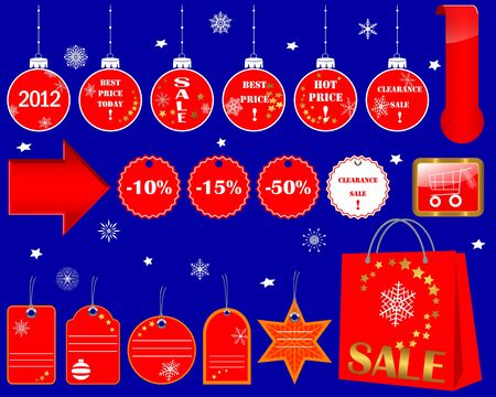 Set of Christmas Sale icons. Vector 10EPS. Stock Vector - 16002139