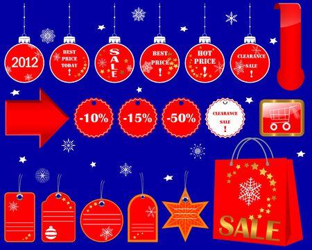 10eps: Set of Christmas Sale icons. Vector 10EPS.