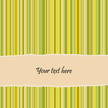 Retro striped background and banner with place for text. Vector. Vector