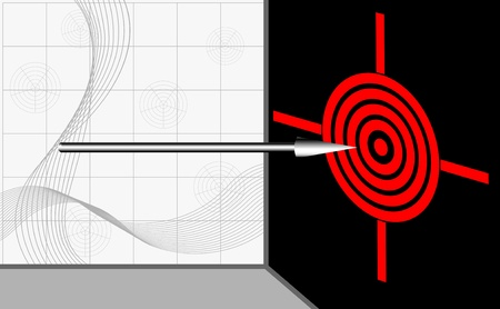 Red target with arrow. Vector illustration. Stock Vector - 16001861