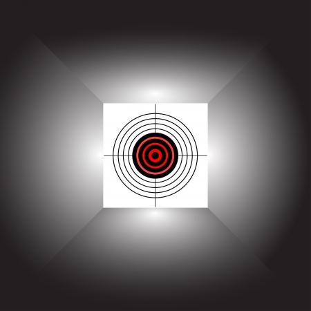 vaincu: Cible sur un fond abstrait. Vector illustration. Illustration