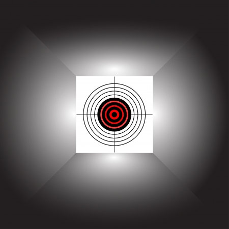 Target on an abstract background. Vector illustration. Illustration