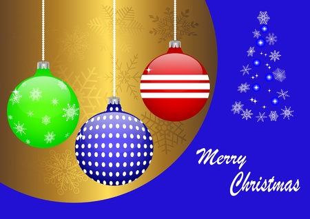 10eps: Background with christmas balls. vector 10eps.
