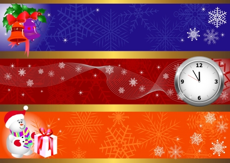 Set of winter christmas banners. vector. Stock Vector - 16002146