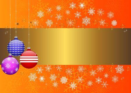 10eps: Christmas banner with balls and snowflake. vector 10eps.