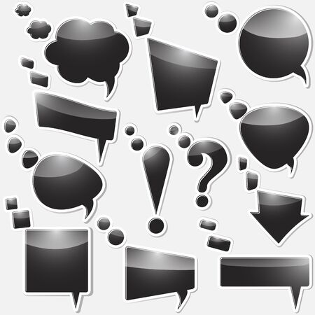 Set of stickers from speech bubbles and an arrow. vector. Stock Vector - 16142744