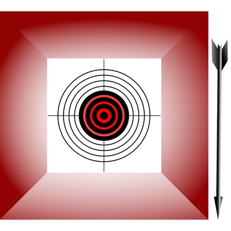 Target on an abstract background and arrow. Vector. Stock Vector - 16142737