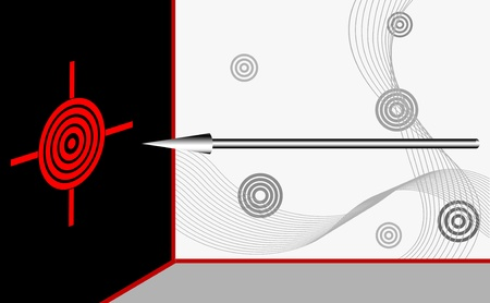 Red target with arrow. Vector illustration. Stock Vector - 16142738