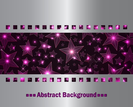 silver screen: Abstract background with transparent stars.