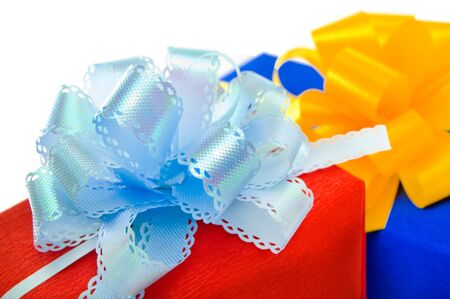 Gifts with bow. Stock Photo - 16358132