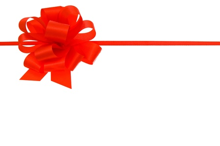 Red bow isolated on white background. Stock Photo - 16358048