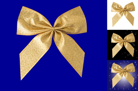 Gold bow  Stock Photo - 16358199