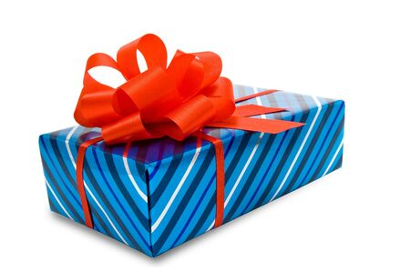 Gift with red bow. Stock Photo - 16358107