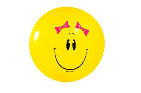 Smiley on white    Stock Photo - 16358011