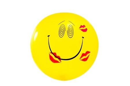 Smiley on white Stock Photo - 16358027