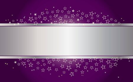 silver star: Holiday background with banner and stars