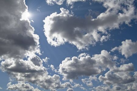 The beautiful sky with clouds and sun Stock Photo - 16448375