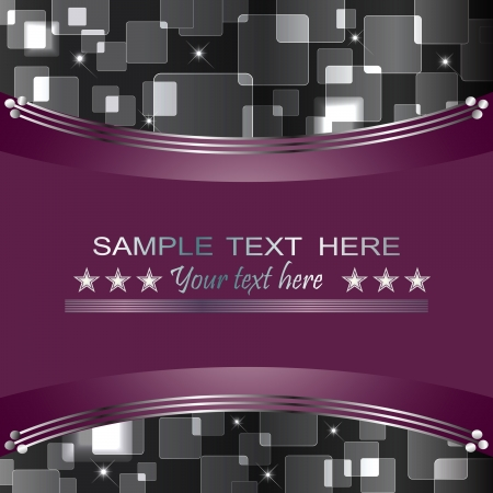 Holiday background with bokeh and banner. 10eps vector. Illustration
