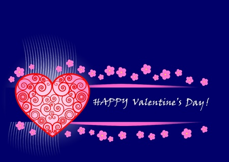 Valentines Day banner. Vector