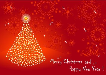 10eps: Christmas tree from stars. vector 10eps.