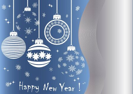 New year background with balls and snowflakes Stock Vector - 16760665