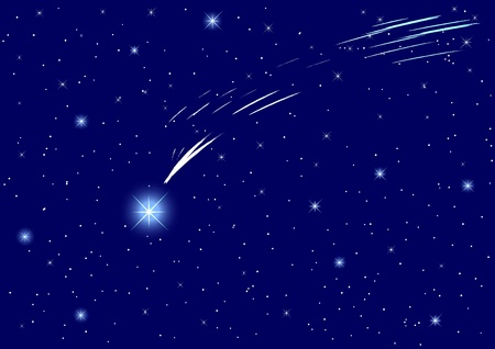 peaceful background: The Star of Bethlehem on night sky. Illustration
