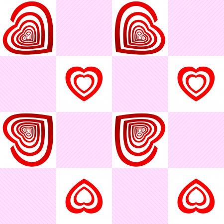 seamless pattern with Target with the shape of an heart Stock Vector - 16833543