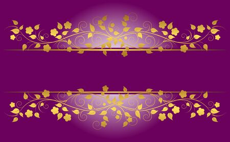 Banner with floral ornament. Vector illustration. Vector