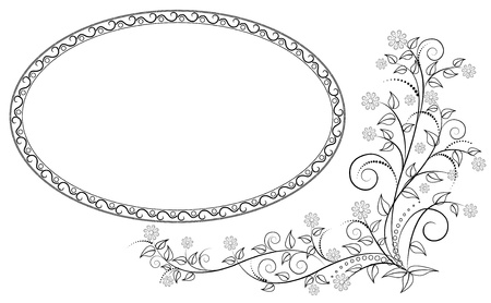 Vector frame with floral ornament. Stock Vector - 16901483