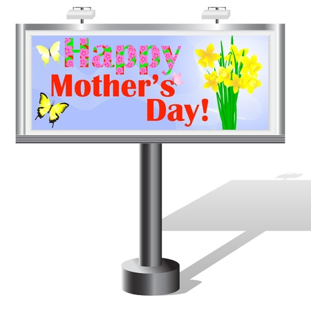 Billboard with Mother Stock Vector - 17533549