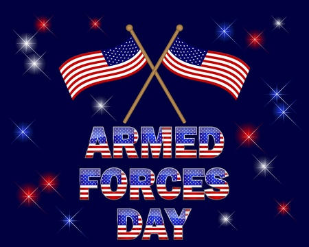 armed force: Celebratory background with beautiful text and flags.