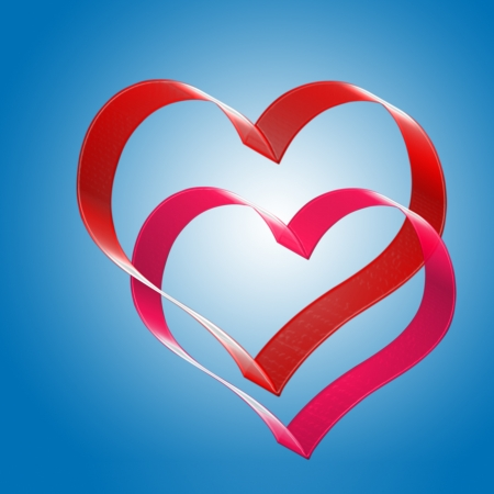 two hearts. the valentine's day.
