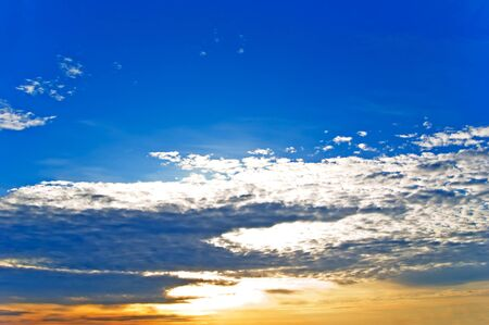 The beautiful sky with clouds, may be used as background. Stock Photo - 17945835