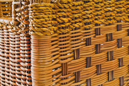 Texture of old wicker basket. photo