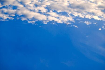 The  blue sky  with clouds. Stock Photo - 17945918