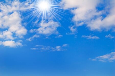 Sunny sky. May be used as background. Stock Photo - 17945915