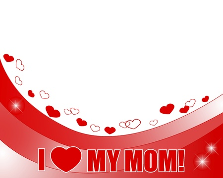 Mother s Day  Banner with a beautiful text and hearts  illustration  Stock Vector - 19258714