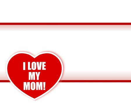 Mother's day. Sticker in the shape of heart.  Stock Vector - 19417759