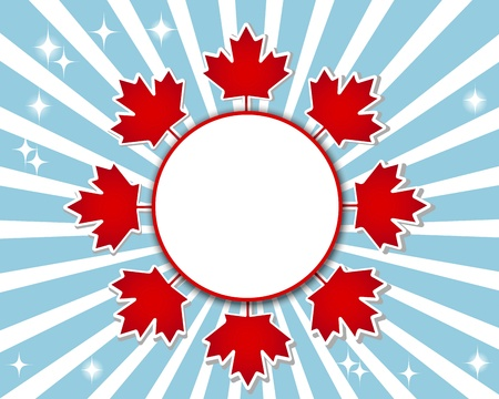 Canada Day banner with a maple leaves. 10 EPS. Vector illustration.