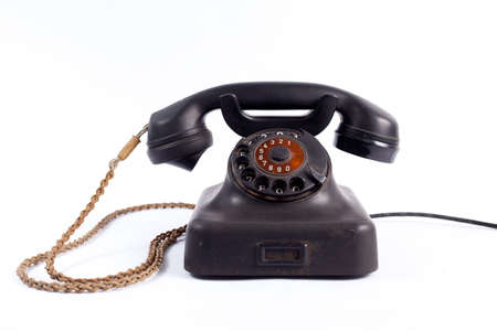 old fashioned rotary phone: old phone