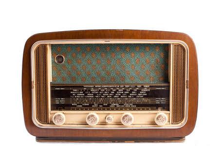 radio frequency: retro radio on a white background