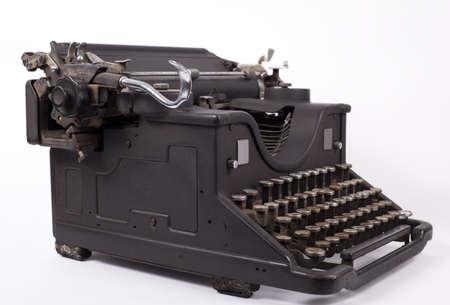 Retro typewriter on a white background Stock Photo - 12907650