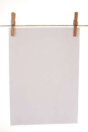 Clipped blank paper on white background Stock Photo - 16011250