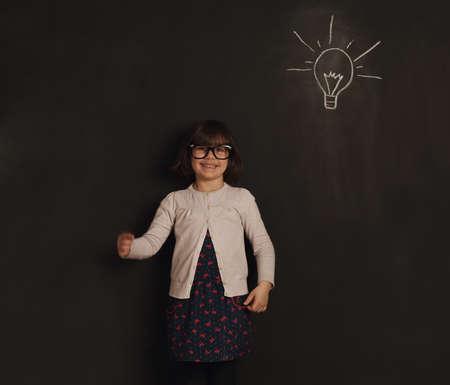 new idea: cute little girl has an new idea