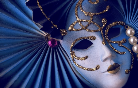 Blue Venetian Mask Stock Photo - 9875903